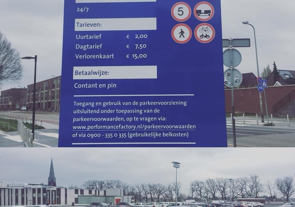 Pinautomaat parkeren beperkt mogelijk